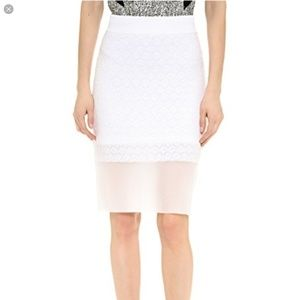 Rag & Bone | Molly White Honeycomb Pencil Skirt